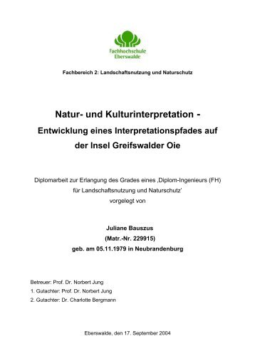Interpretationspfad Greifswalder Oie - Bildungswerk interpretation