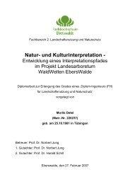 Natur- und Kulturinterpretation - - Bildungswerk interpretation