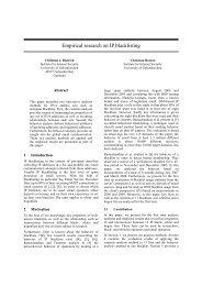 Christian J. Dietrich . Christian Rossow - CEAS 2008 - paper - IP list ...