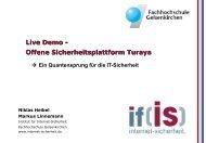 Offene Sicherheitsplattform Turaya - Institut für Internet-Sicherheit