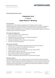 Praktikanten (m/w) im Bereich Digital Research ... - Interrogare GmbH