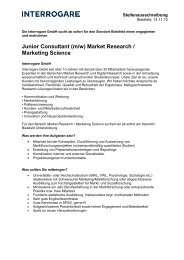 Junior Consultant (m/w) Market Research ... - Interrogare GmbH