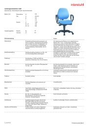 Leistungsverzeichnis D - Interstuhl