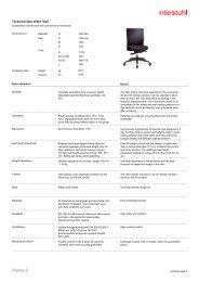 Technical data sheet E - Interstuhl