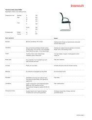 Technical data sheet X560 - Interstuhl
