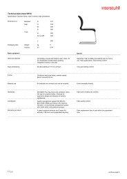 Technical data sheet 5W15 - Interstuhl