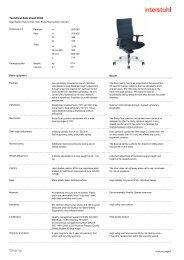 Technical data sheet 3C02 - Interstuhl