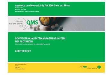 auditbericht Apotheke zum Mohrenkönig AG, 8260 ... - apo-click.ch