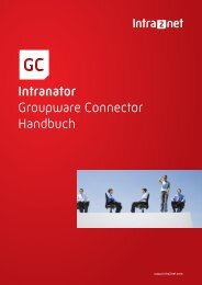 Intranator Groupware Connector Handbuch - Intra2net AG