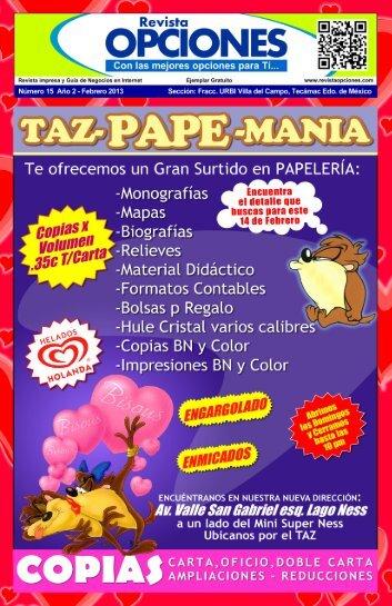 Revista Opciones Febrero 2013