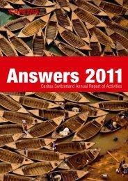Caritas Switzerland Annual Report of Activities - CARITAS - Schweiz