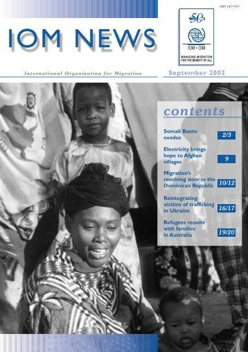 IOM News - September 2002 - International Organization for Migration