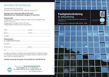 Fastighetsvärdering & avkastning - IPD
