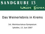SANDGRUBE 13 wein.sinn, Dir. Franz Ehrenleitner, Winzer - Iphofen