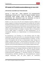 IPH startet mit Produktionsautomatisierung ins neue Jahr