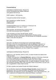 Pressemitteilung HAFEMANN INTERNATIONAL ... - Iphofen
