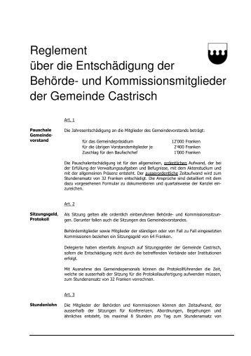 Behördenentschädigung - Castrisch