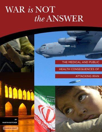 War is Not the aNsWer - Physicians for Social Responsibility