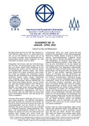 rundbrief nr. 93 januar - april 2002 - Institute for Planetary Synthesis