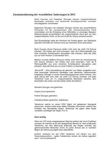 Zusammenfassung der wesentlichen Änderungen in ... - IPSC Austria