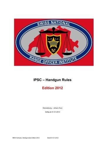 Handgun Rules CH 2012 - IPSC