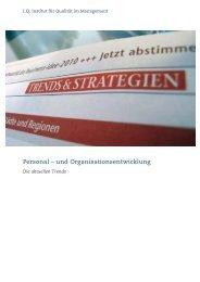 Trends in der Personal- und Organisations-entwicklung