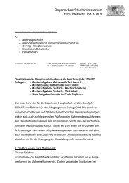 KMS zum Qualifizierenden Hauptschulabschluss ab ... - ISB - Bayern