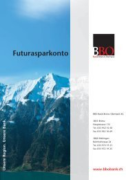 Futurasparkonto - Bank Brienz Oberhasli
