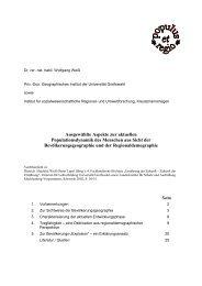 Ausgewählte Aspekte zur aktuellen Populationsdynamik ... - isru.de