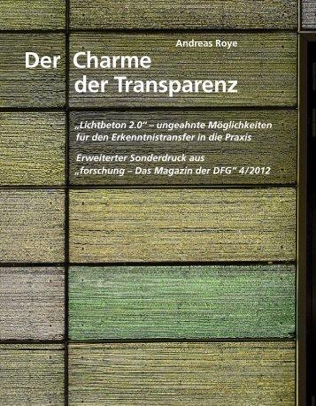 Sonderdruck - Institut für Textiltechnik - RWTH Aachen