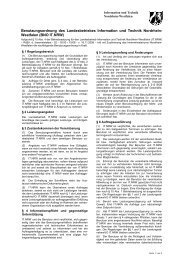 Benutzungsordnung - Information und Technik Nordrhein-Westfalen ...
