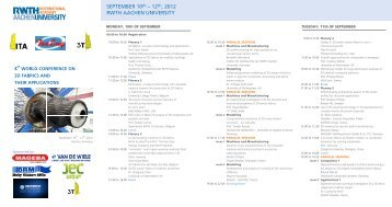 SEPTEMBER 10th – 12th, 2012 RWTH AACHEN UNIVERSITY