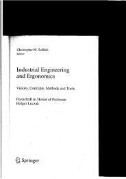 Inustrial and Ergono ics - Institut Technik und Bildung