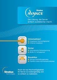 Stratus Avance Broschüre als PDF-Datei zum Download - it-ulm.de