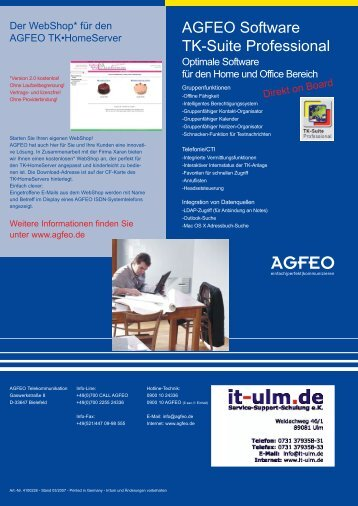 Agfeo TK HomeServer - it-ulm.de