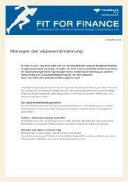 FIT FOR FINANCE - Volksbank Tirol Innsbruck-Schwaz AG