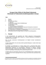 European Code of Ethics for Real Estate Professionals 1 - IVD