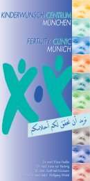 F r Hrn. Geisberger - Kinderwunsch Centrum München