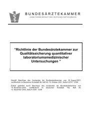 Richtlinie der Bundesärztekammer zur Qualitätssicherung ... - BNLD