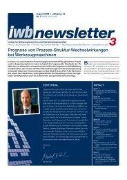 newsletter - iwb - TUM