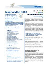 Datenblatt Magnolythe S100 - iWEST