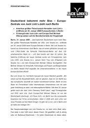 Deutschland bekommt mehr Biss – Europa- Zentrale von Jack Link's  ...