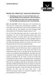 """Neuheit: Das """"Steak to go!"""" kommt nach Deutschland - Jack Link's ..."""