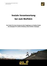 Soziale Verantwortung bei Jack Wolfskin