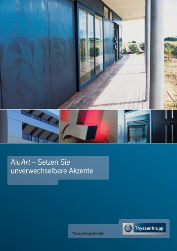 AluArt- Setzen Sie unverwechselbare Akzente (ca ... - Jacob Bek