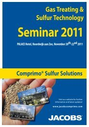 Sulfur Seminar - Web.indd - Jacobs Engineering