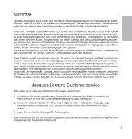 Garantie Jacques Lemans Customerservice - Jacques-Lemans-Shop