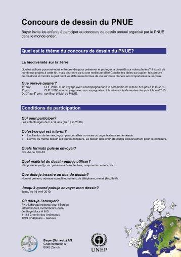 Concours de dessin du PNUE - Bayer