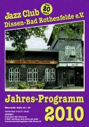 2010 - Jazz Club Dissen - Bad Rothenfelde eV