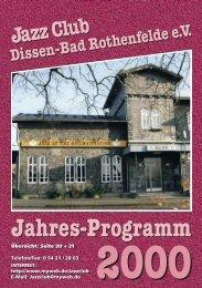 2000 - Jazz Club Dissen - Bad Rothenfelde eV